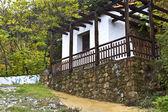 古いのギリシャ語伝統的な木材石の家 — ストック写真