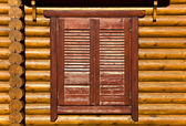 Wooden shutters detail image — Stock Photo