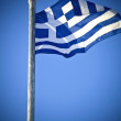 The Greek national flag - Stok fotoğraf