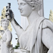 Statue showing ancient Greek mythical muse — Stock Photo #13344357
