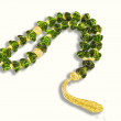 Stock Photo: Decorative green crystal chaplet isolated