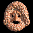 Stock Photo: Mask used from actors on greek ancient tragedy