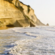 Stock Photo: Cliff at northwest coast of Corfu, Greece