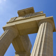 Temple of Apollo at Lindos, Rhodes island, Greece — Stock Photo