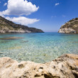 Antoni Queen beach at Rhodes island in Greece - Stock Photo