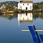 Old Greek orthodox church by the sea at Corfu, Greece — Stock Photo #13348035