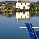 Old Greek orthodox church by the sea at Corfu, Greece — Stock Photo