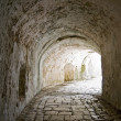 Tunnel passage at Corfu Old Fortress in Greece — Stock Photo