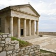 Rare ancient Greek temple alike, orthodox church at Corfu — Stock Photo #13348209