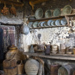 Stock Photo: Old traditional kitchen inside Greek monastery