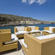 Stock Photo: Luxury chill out summer bar at Rhodes island, Greece