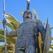 Large scale Achilles statue at Corfu, Greece — Stock Photo