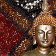 Bronze Buddha statue close up image — Stock Photo