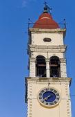Turm des heiligen spiridon auf korfu-griechenland — Stockfoto