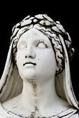 Detail of the face of an ancient Greek statue — Stock Photo