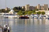 Isla del puerto de rodas en grecia — Foto de Stock
