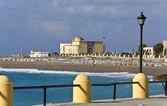 Scenic coastline of Rhodes resort in Greece — Stock Photo