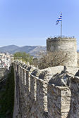 Castle with defense tower at Kavala city in Greece — Stock Photo