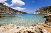 在希腊罗德岛 antoni 女王海滩 — 图库照片