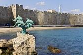 Porto di rodi in grecia — Foto Stock