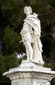 Statue standing at Corfu city in Greece — Stock Photo