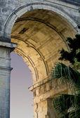Poort van britse paleis in corfu, griekenland — Stockfoto