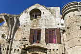 Old medieval house at Rhodes island in Greece — Stock Photo
