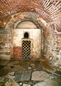 Catacombs under an orthodox church in Greece — Stock Photo