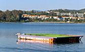 Water sports ramp in Corfu island, Greece — Stock Photo