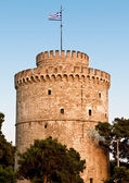 The white tower at Thessaloniki city in Greece — Stock Photo