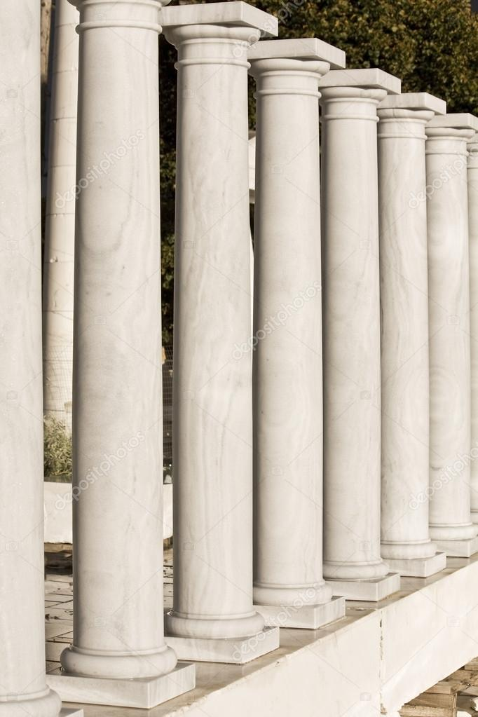 Row of ancient Greek columns replicas  Stock Photo #13346418