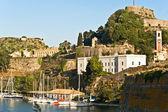 Eiland corfu, griekenland (oude fort gebied) — Stockfoto
