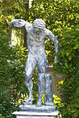 Greek statue at Mon Repo palace at Corfu, Greece — Stock Photo