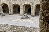 Archeologisch museum op rhodos eiland in griekenland — Stockfoto