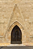 Medieval gate of a cathedral in Greece — Stock Photo