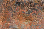 Rusty metallic surface for use as a texture or background — Stock Photo