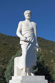 Aristotle statue located at Stageira of Greece — Stock Photo