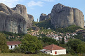 Kastraki village at Kalambaka city in Greece — Stock Photo