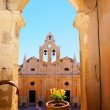 Stock Photo: Arkadiou monastery at Crete, Greece