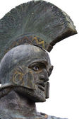 Leonidas statue at Sparta city in Greece — Stock Photo