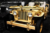 Collectible old ww2 jeep vehicle — Stock Photo