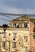 Old buildings at Corfu island in Greece — Stock Photo