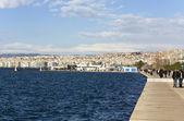 Lungomare presso la città di salonicco in grecia — Foto Stock