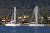 Nydri bay at Lefkada island in Greece — Stock Photo