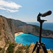 Navagio beach at Zakynthos island — Stock Photo