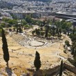 Dionysus theater at the Acropolis of Athens in Greece - Stock Photo