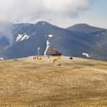 Kakalos lodge at mountain Olympus in Greece — Stock Photo