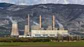Charcoal electric power plant at Greece — Stock Photo