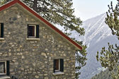 Refuge of Agapitos at mountain Olympus in Greece — Stock Photo