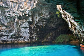 Melissani cave at Kefalonia island in Greece — Stock Photo